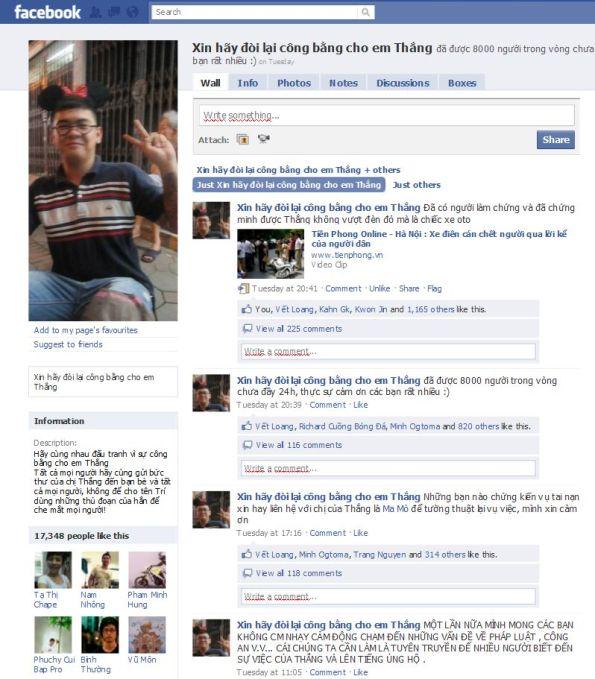 Facebook page với hơn 17.000 thành viên